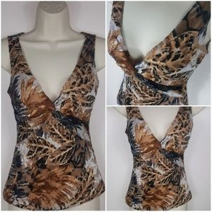 Cache Stretchy Animal print Sexy Lace Tank Top  M